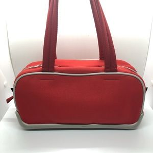Vintage Prada Red Neoprene Sports Bag